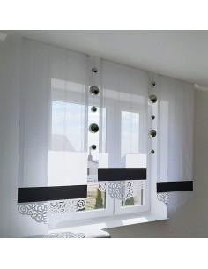 Czarno-biały panel z ażurem