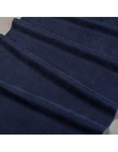 Granatowa tkanina zasłonowa...